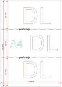 Papier perforowany A4 do DL - 80g 500ark.